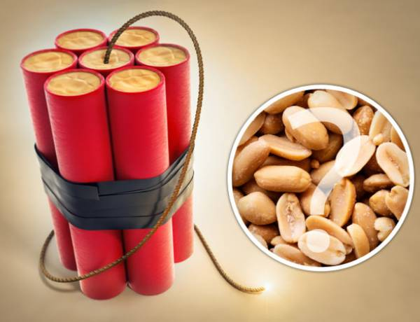 Peanuts are one of the ingredients of dynamite.