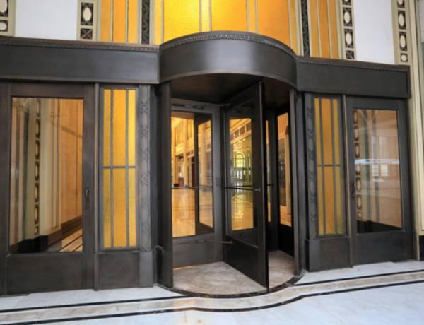 The revolving door was invented in 1888.