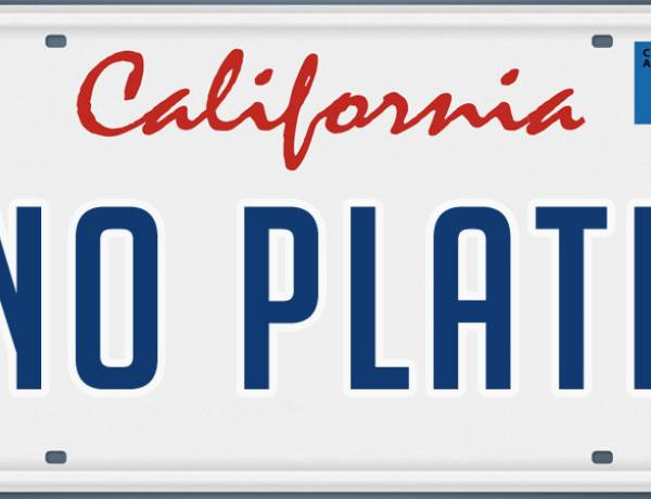 A California man who made a personalized license plate that said 'No Plate' and received more than 2500 parking tickets.