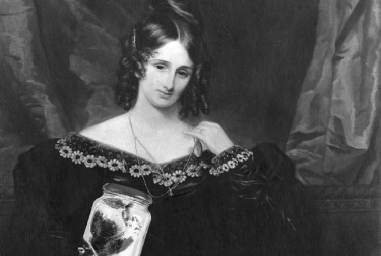 Frankenstein author Mary Shelley kept her dead husband's heart and carried it with her for almost 30 years until she died in 1851. It was found in a desk drawer a year later, wrapped in a copy of one of his final poems.