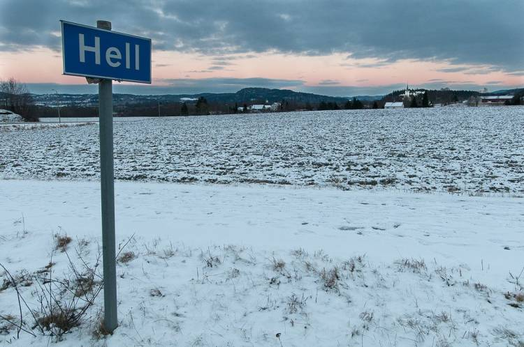 """Norway has a town called """"Hell"""". It freezes over quite regularly."""