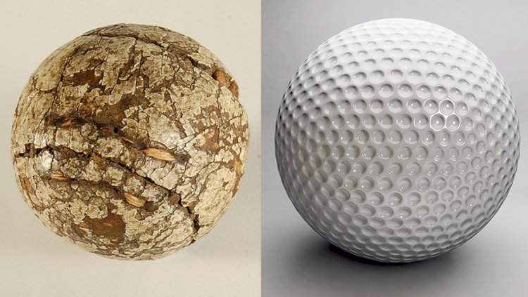 Before 1850 golf balls were made of leather and were stuffed with feathers