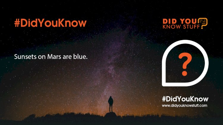 Sunsets on Mars are blue.