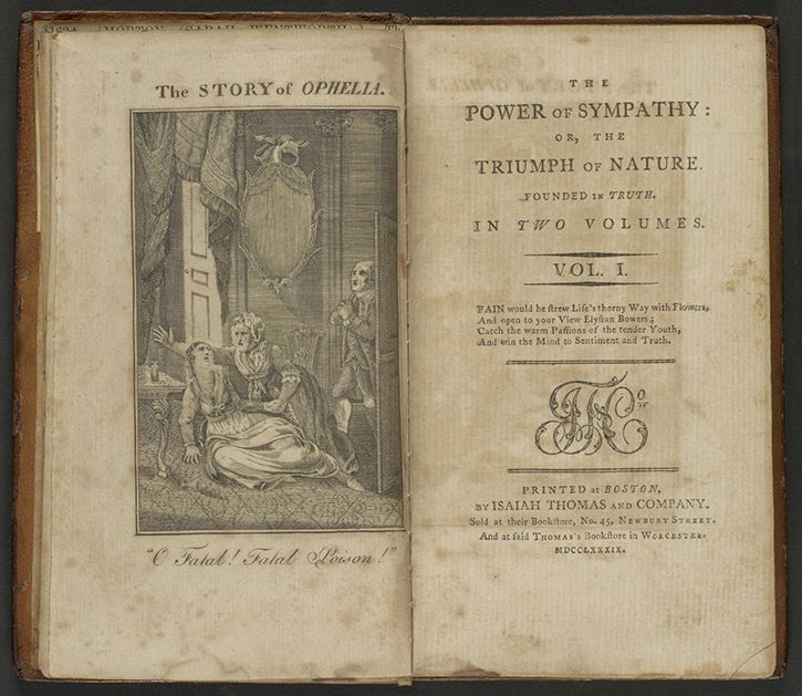 """William Hill Brown is generally believed to have written the first American novel, """"The Power of Sympathy,"""" published in Boston in 1791, which relates a tragic love story."""