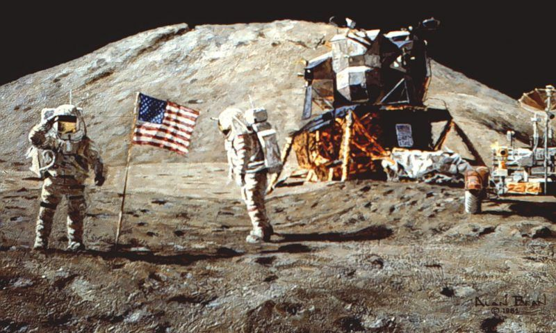 The flag erected on the Moon during the historic Apollo 11 landing was purchased at a local Sears store for $5.50.